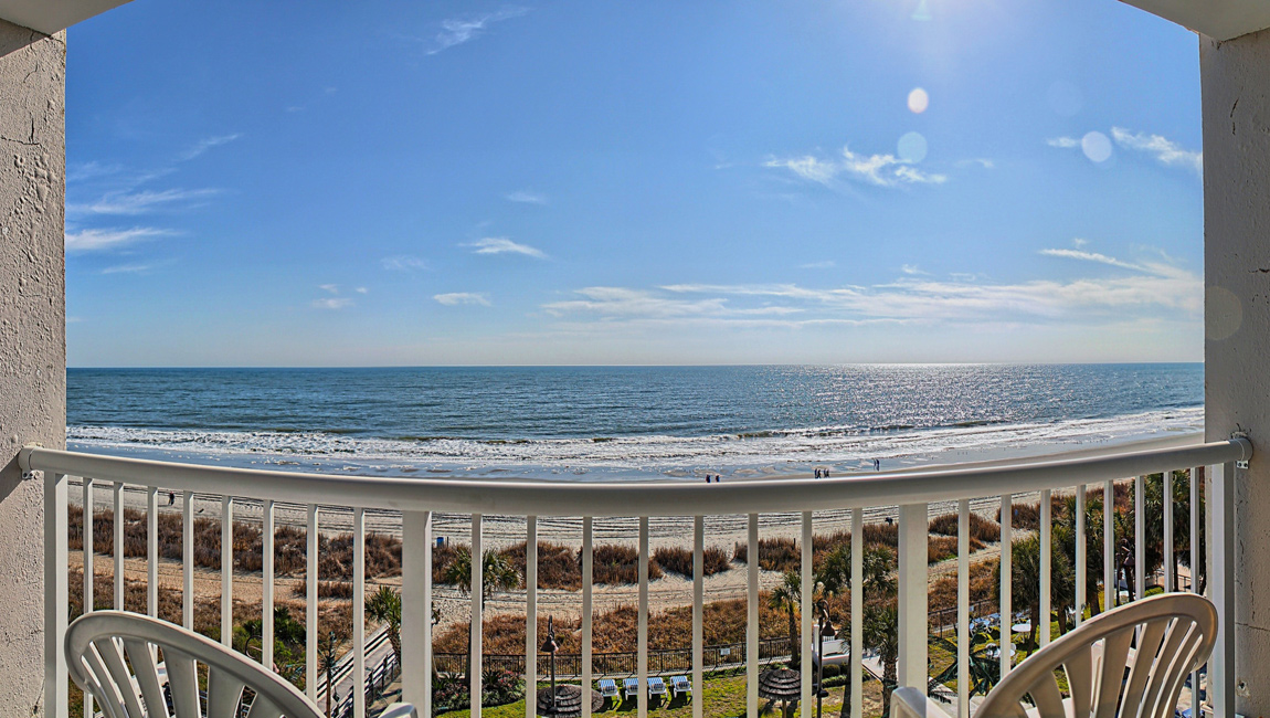 Balcony at Myrtle Beach resort