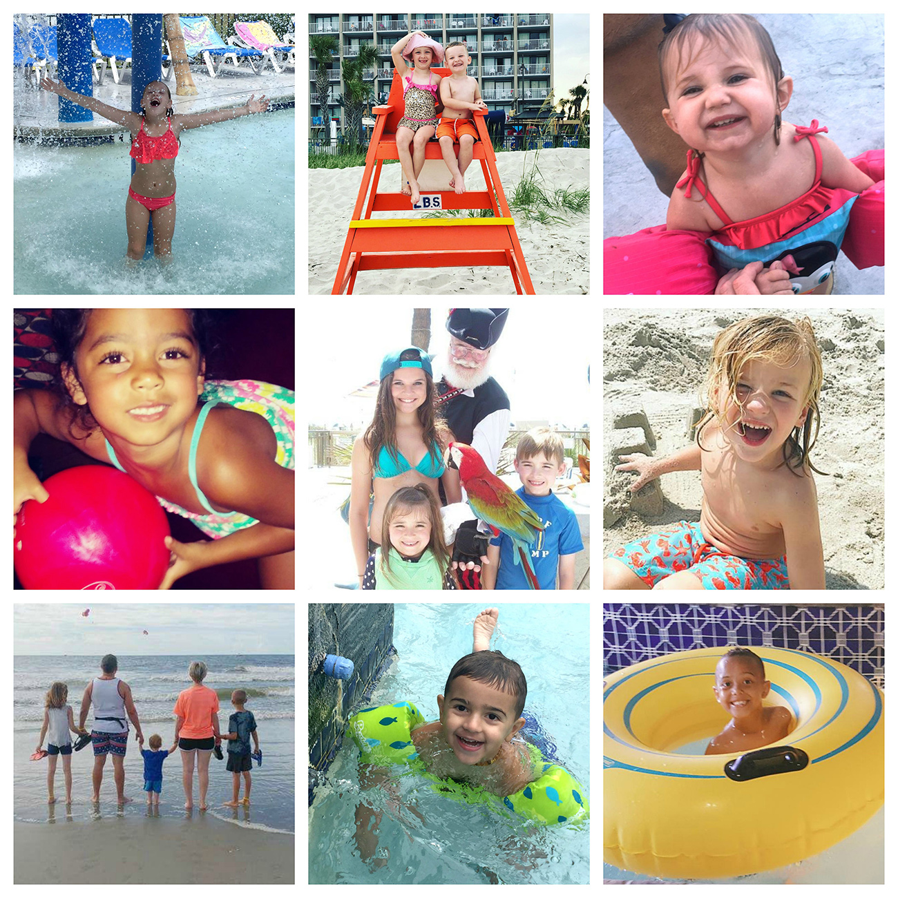 Captain's Quarters Resort Family Picture Collage