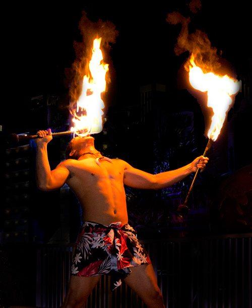 Myrtle Beach Polynesian Fire Show Performer