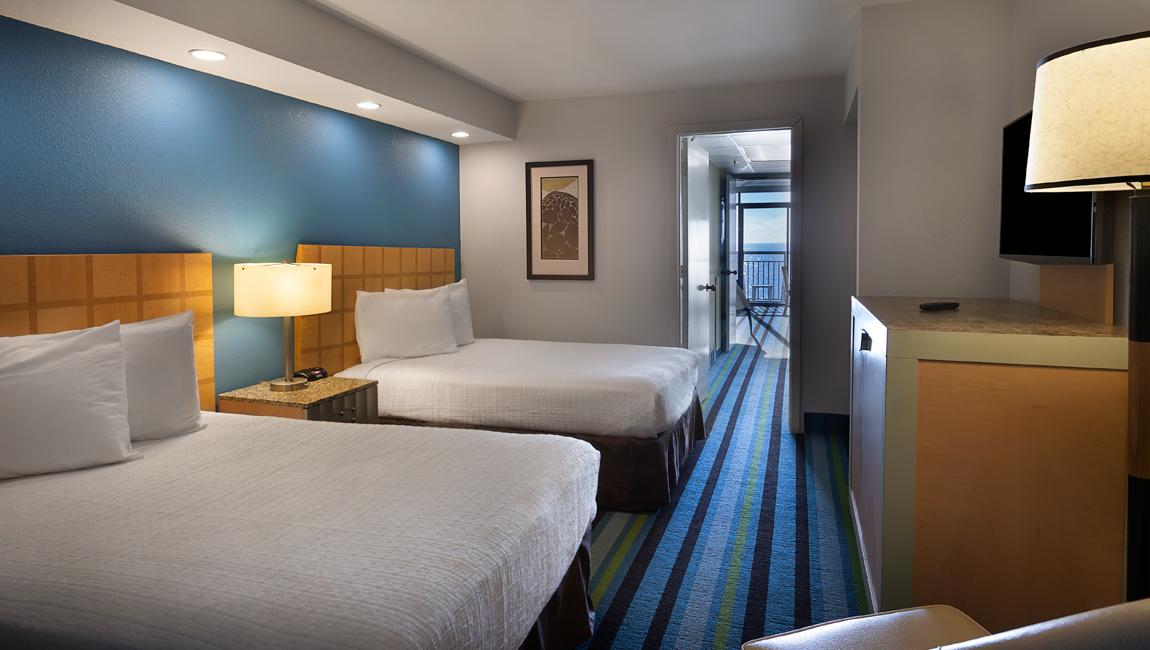 Oceanfront Double Suite Bedroom Myrtle Beach