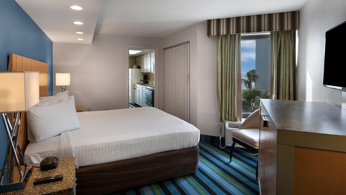 Oceanfront King Suite Bedroom Myrtle Beach